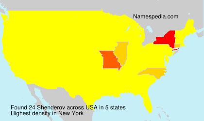 Surname Shenderov in USA