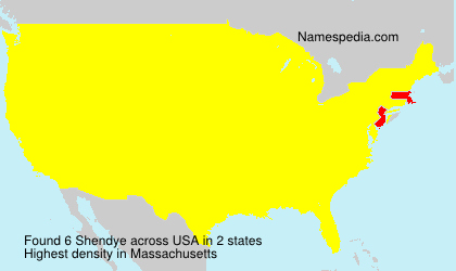 Surname Shendye in USA