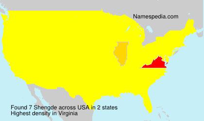 Surname Shengde in USA