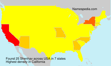 Familiennamen Shenhav - USA