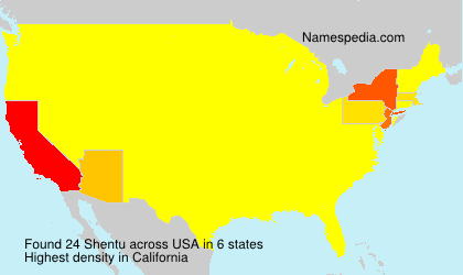 Surname Shentu in USA