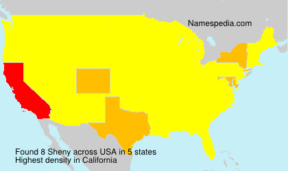 Surname Sheny in USA