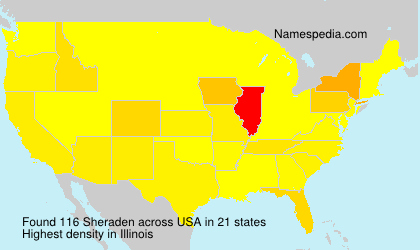 Surname Sheraden in USA