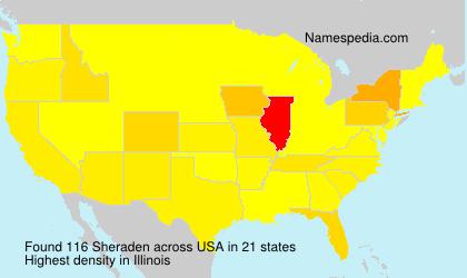 Surname Sheraden in USA