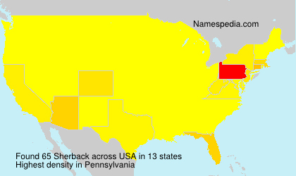 Surname Sherback in USA