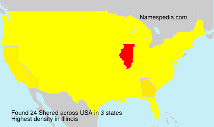 Surname Shered in USA