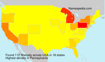 Surname Sheredy in USA