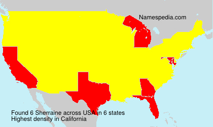 Surname Sherraine in USA
