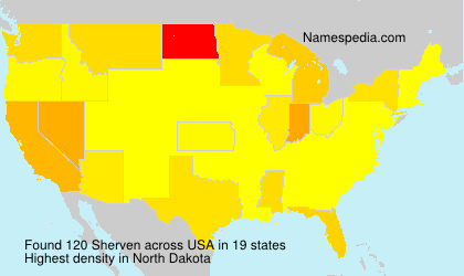Surname Sherven in USA