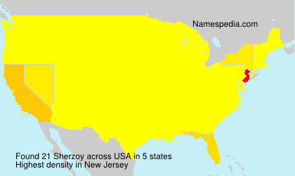 Surname Sherzoy in USA