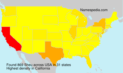 Surname Sheu in USA