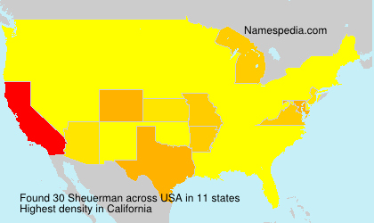 Surname Sheuerman in USA