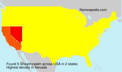 Surname Sheykhzadeh in USA