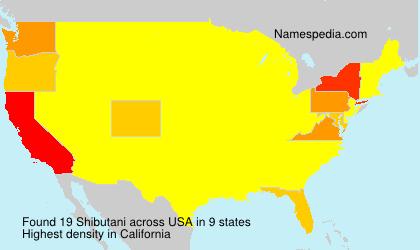 Familiennamen Shibutani - USA