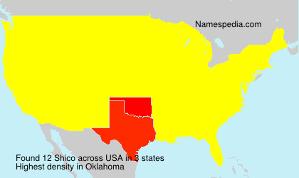 Surname Shico in USA