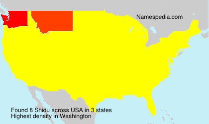 Surname Shidu in USA