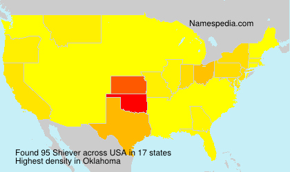 Surname Shiever in USA