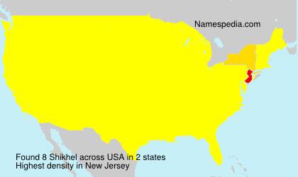 Surname Shikhel in USA