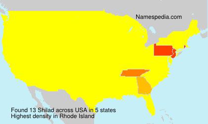 Surname Shilad in USA