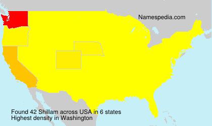 Familiennamen Shillam - USA