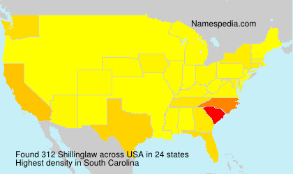Surname Shillinglaw in USA