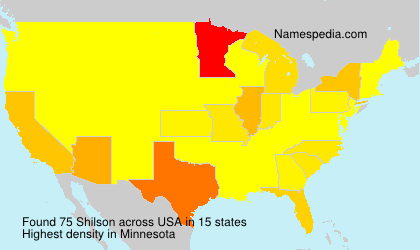 Surname Shilson in USA