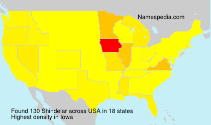 Surname Shindelar in USA