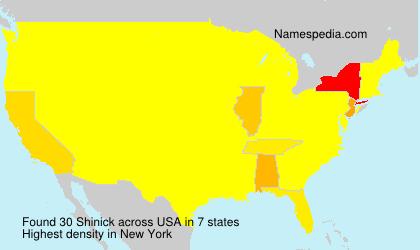 Familiennamen Shinick - USA