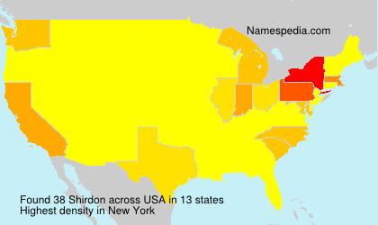Surname Shirdon in USA