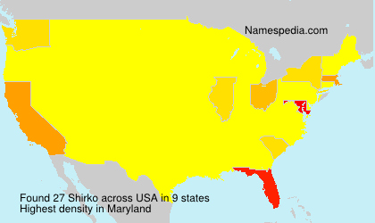 Surname Shirko in USA