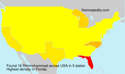 Surname Shirmohammad in USA
