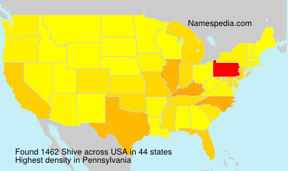 Familiennamen Shive - USA