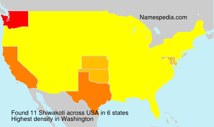 Surname Shiwakoti in USA