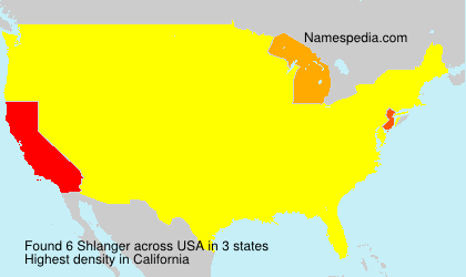 Surname Shlanger in USA