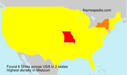 Familiennamen Shles - USA