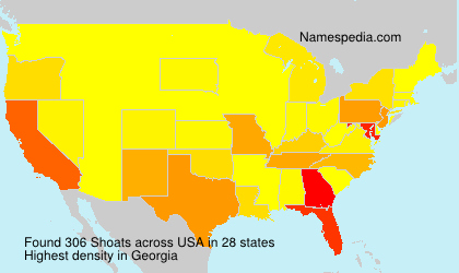Surname Shoats in USA