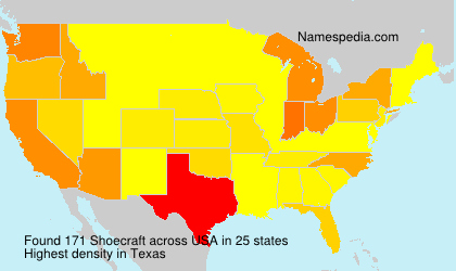 Surname Shoecraft in USA