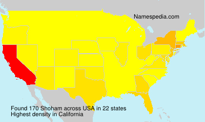 Surname Shoham in USA