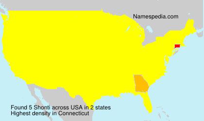 Familiennamen Shonti - USA