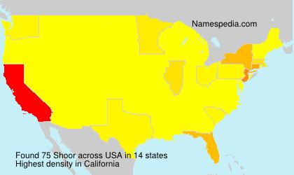 Familiennamen Shoor - USA
