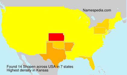 Surname Shopen in USA