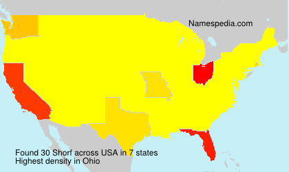 Surname Shorf in USA