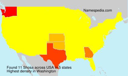 Familiennamen Shosa - USA