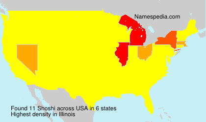 Surname Shoshi in USA