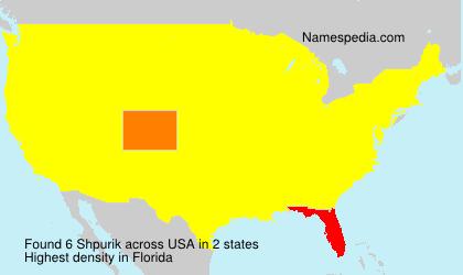 Surname Shpurik in USA