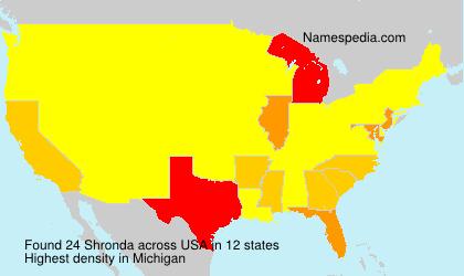 Surname Shronda in USA