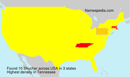Surname Shucher in USA