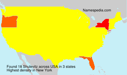 Surname Shulevitz in USA