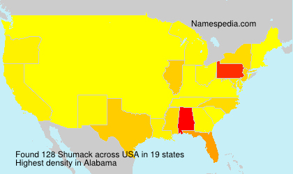 Surname Shumack in USA