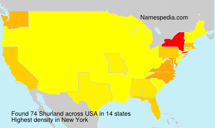Surname Shurland in USA